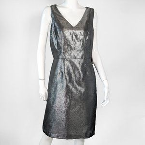 Nue by Shani Sleeveless Silver Party Dress NWT